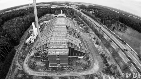 Luftbilder der Müllverbrennungsanlage Ansbach