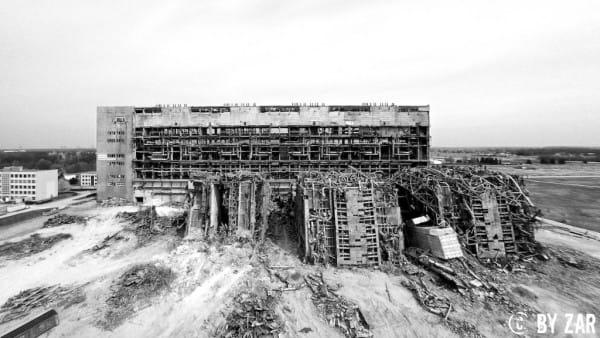 Kraftwerk Thierbach von oben