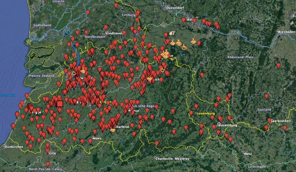 Urban Exploration Adressen mit Google Earth kmz kml Dateien finden. Lost Places Koordinaten