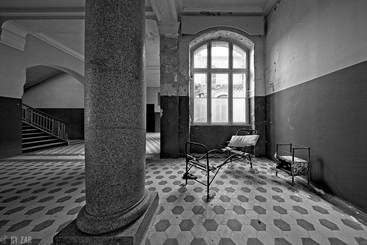 Beelitz Heilstätten - Badehaus, Eingangsbereich